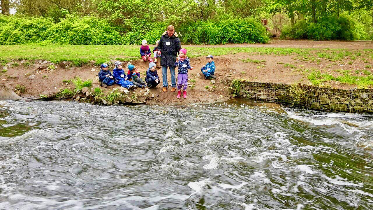Kinder am Fluß Panke