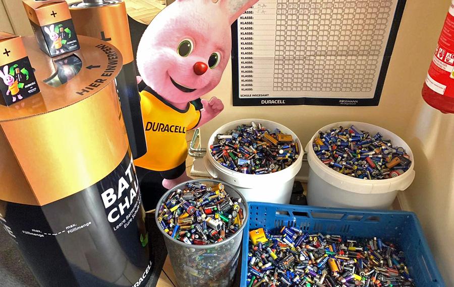 gesammelte Batterien